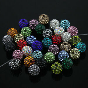 20PCS-Crystal-Resin-Round-Loose-Beads-Jewelry-Making-10mm