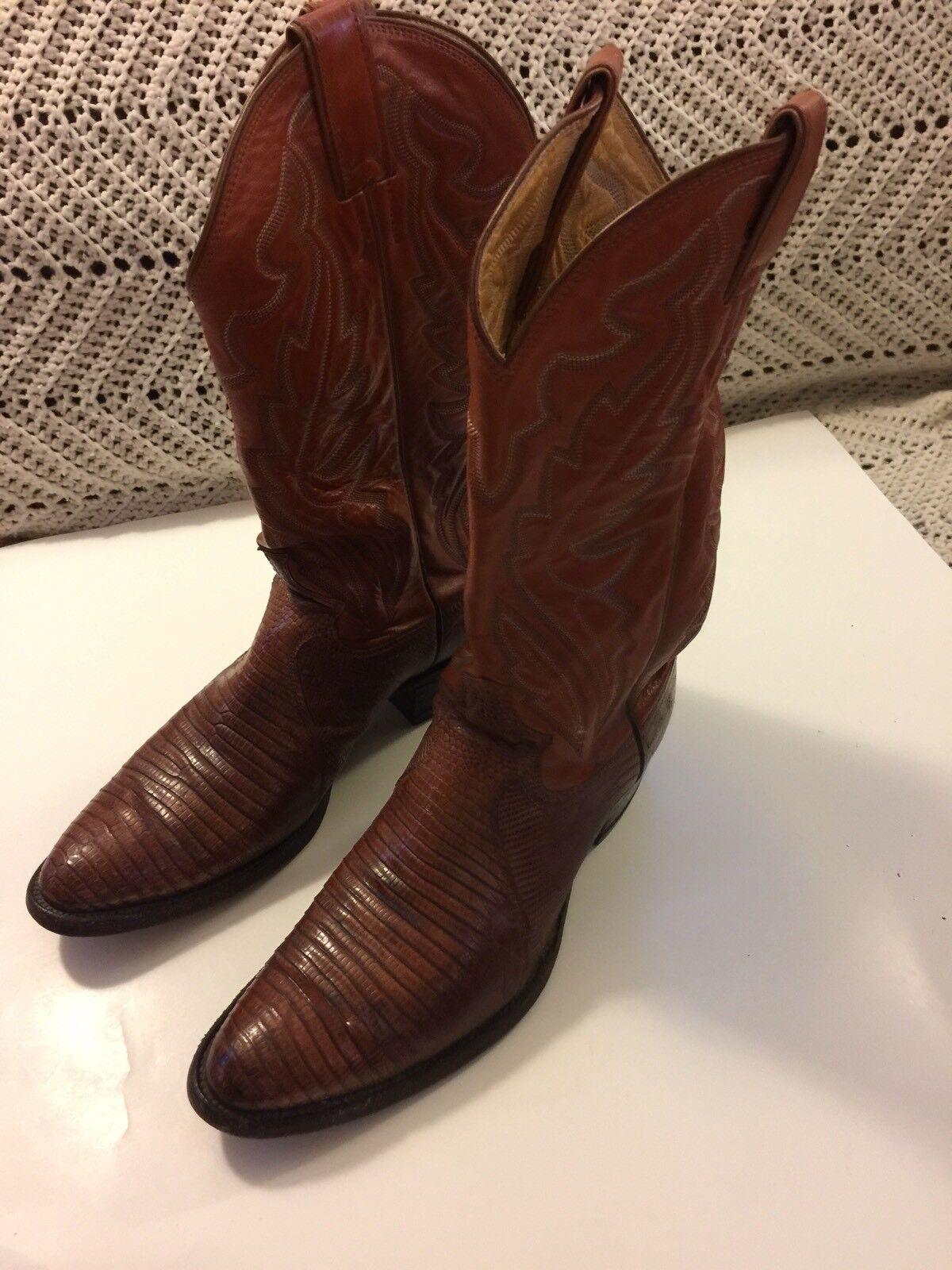 acquista la qualità autentica al 100% Vintage Vintage Vintage Justin 8303 Exotic Lizard Leather Western stivali Dimensione 8 1 2 D  vendita economica