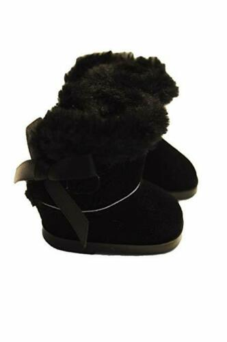 Black Winter Boots for Wellie Wisher Dolls 14.5 Inch Doll Clothes Glitter Girls