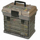 Plano 1374 4-By Rack System 3700 Large Size Fishing Bait Storage Tackle Box