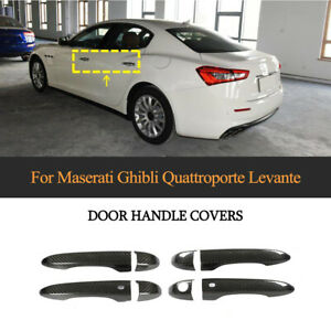 R+L Carbon Türgriff Schutz Außentürgriff Trims für Maserati LEVANTE Ghibli 13-19