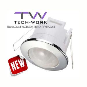 Schema Collegamento Lampada Con Sensore Di Movimento : Sensore di movimento rilevatore di presenza 360 ad incasso cromato