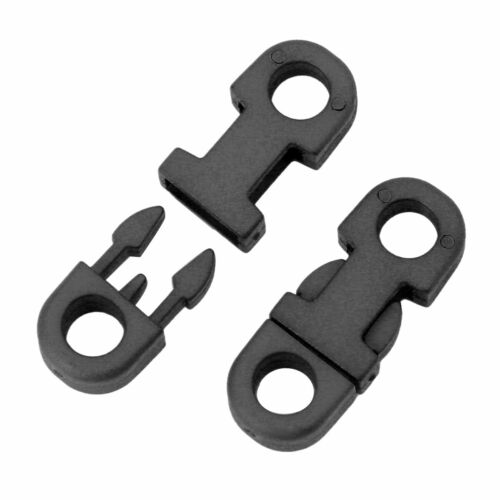 20 Pcs 5mm Mini Plastic Curved Buckle Double Side Quick Release Buckle DIY Craft
