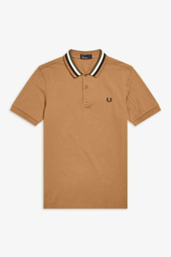 Fred Perry Caramel Bomber Stripe Polo Shirt M5570-450