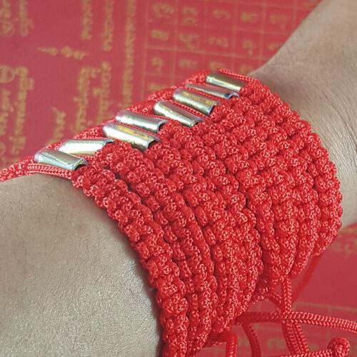 SAI SIN Buddha Red Bracelet Sacred Wristband Holy Buddhist Thai Amulet 50 pcs