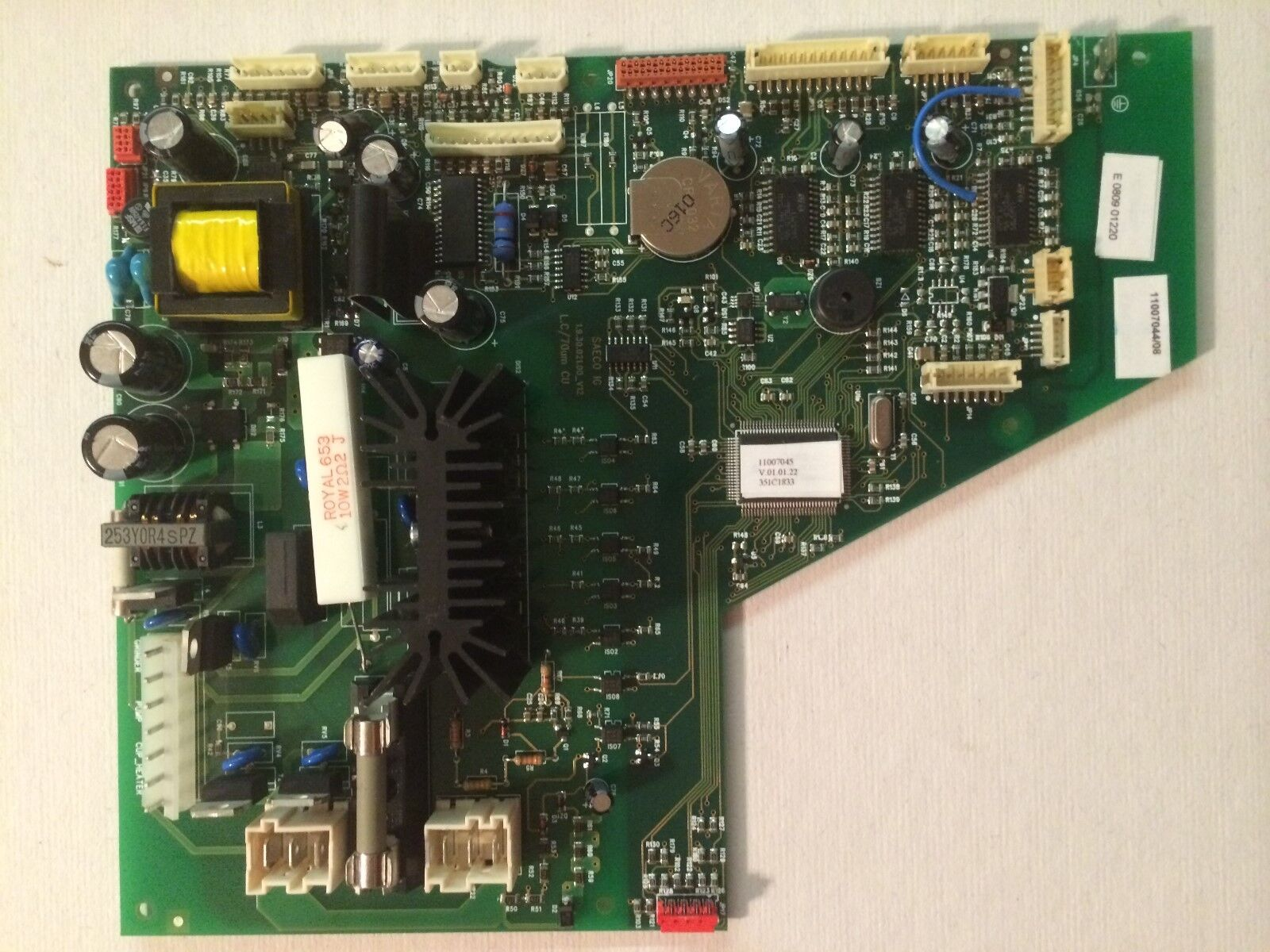 SAECO POWER BOARD PART & 11007046 FOR PRIMEA CPU+SW V1B ASSEMBLY