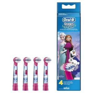 4 testine oral-b spazzolini ricambio stage power FROZEN originali braun testina