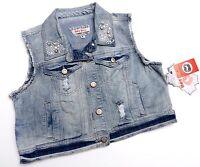 Hot Kiss Womens Jean Vest Size Large L Button Front Blue