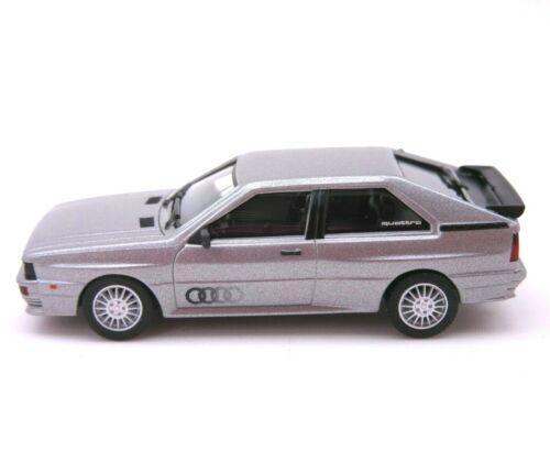 HERPA Modell 1:87//H0 PKW Klassiker Audi Quattro silbermetallic #033336-004