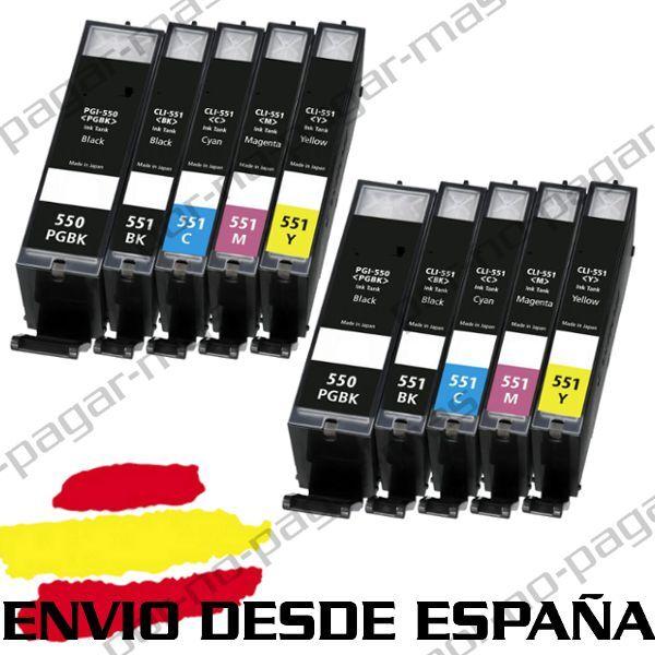 10 CARTUCHOS DE TINTA COMPATIBLES NonOem PARA CANON PIXMA IP 7200 MG7150 MX925