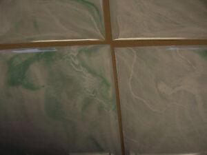 "light green seafoam marble plastic tile 4 1/4"" wall"
