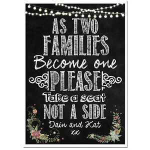 7d7169e8bb3fab Image is loading PERSONALISED-chalkboard-wedding-ceremony-take-a-seat-sign-