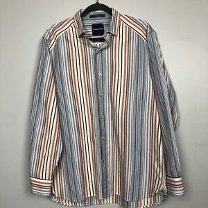 Tommy-Bahama-MensVertical-Striped-Long-Sleeve-Button-Front-Shirt-Size-M-Multicol