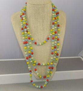 Vintage-Art-Deco-Flapper-Glass-Bead-Harlequin-Long-Necklace-Sautoir-88-034