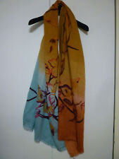 """NWOT: ETRO Wool Scarf in Ombre with Floral Pattern 77"""" X 26"""""""
