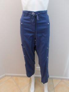 MAGGIE-T-BLUE-LINEN-BLEND-PANTS-SIZE-14-C150