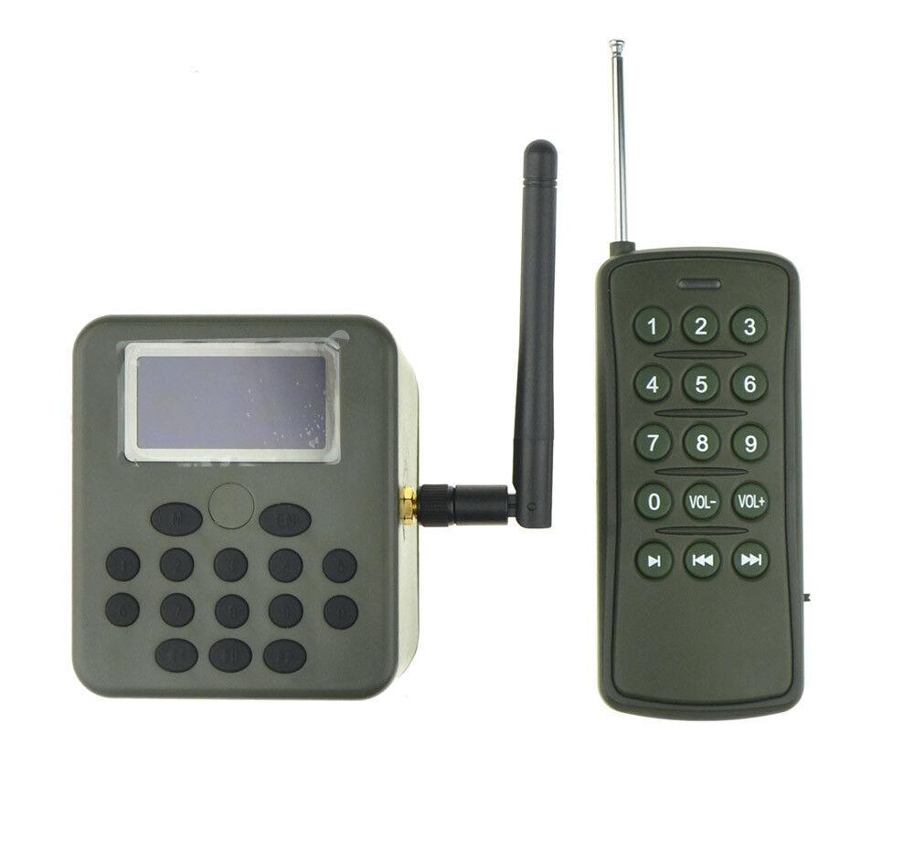 Pantalla LCD de llamada de caza de aves MP3 reproductor 50 W Speaker Con Control Remoto verde