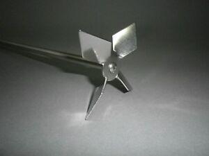 Agitateur-Diamant-Forme-Aile-100mm-4-Pelles-Barre-8mm-Ruehrer-Melangeur-PL021