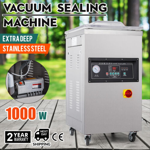 1000W Vacuum Packing Sealing Sealer Machine Extra Deep Chamber Automatic Package