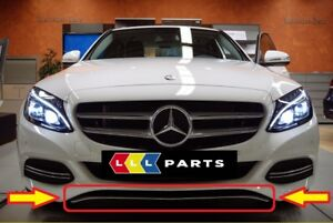 NEW-GENUINE-MERCEDES-BENZ-MB-C-CLASS-W205-FRONT-BUMPER-LOWER-LIP-CHROME-TRIM