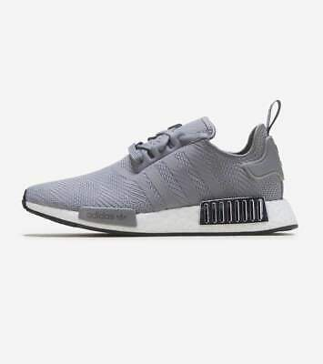 Adidas Nmd R1 Women S Shoes Grey White Black Silver Ee5175