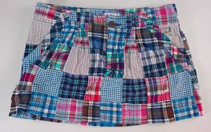 American-Eagle-Skirt-AE-Quilted-Patchwork-Mini-Womens-SZ-2-4-Colorful-31-034-Waist
