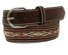 Nocona Western Boys Belt Kids Rawhide Scalloped Lacing Conchos Brown N4437208