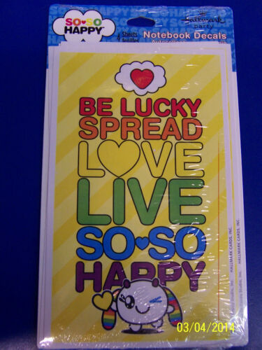 So So Happy Be Lucky Spread Love Live Birthday Party Stickers Notebook Decals