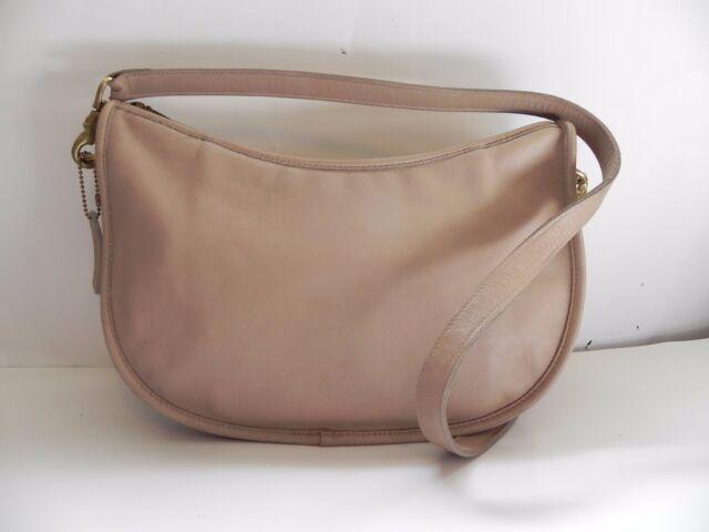 Coach~Vintage Light Tan Leather Shoulder Handbag #135-7824