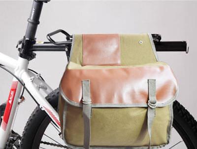 Double Pannier Bike Bicycle Rear Rack Water Resistant Nylon Waterproof