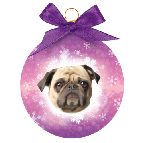 Dog Christmas Tree DecorationPUG Christmas BaubleGreat Gift for Dog Lovers