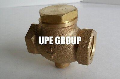 "New 3//8/"" CAST brass horizontal check valve air compressor in line vertical"