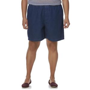 NWT Womens Basic Editions Elastic Comfort Stretch Waist Shorts Blue Denim