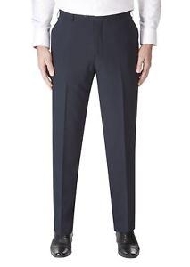 reputable site 494df 5fe6b Details zu Skopes Herren Wollmischung Darwin Marineblau Anzug Hose