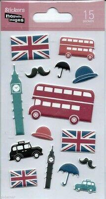 Stickers 3d Pour Ordinateurs Consoles Ou Cahier London Londres 14 Cm X 7,5 Cm