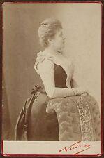 Mme Blanche Pierson, Actrice Théâtre Comédie-Française, Photo Cabinet card Nadar