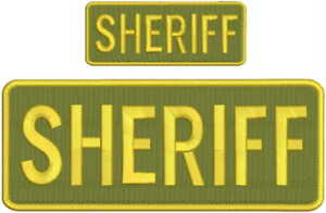 Sheriff embroidery Patch 3x6 and 2x4 hook od green