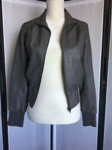 Forever-21-Women-039-s-Size-Small-Faux-Leather-Gray