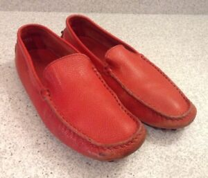 Tod-039-s-Women-039-s-Driving-Shoes-Size-35-5-Ferrari-Red-Leather-Limited-Edition-Rare