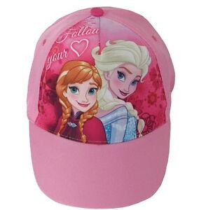 Image is loading Girls-Character-Official-Frozen-Anna-Elsa-Baseball-Caps- 77a50285eec
