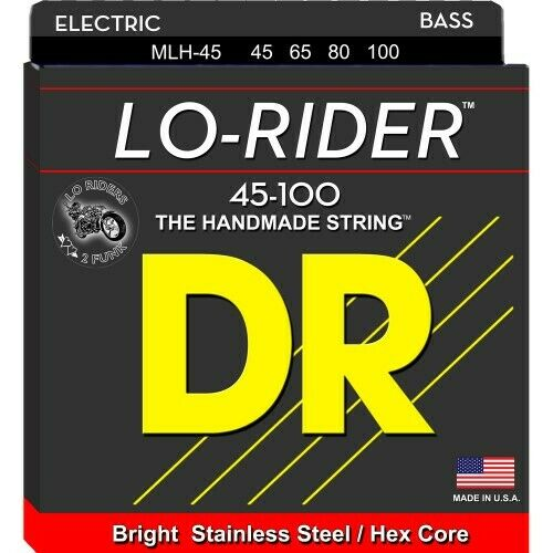 DR LO-RIDER Bass Saiten 4-String Medium Light .045-.100   Neu