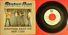 """Status Quo Something About You Baby I Like Me Italy 60006391 Lp Vinyl 45 Giri 7"""""""