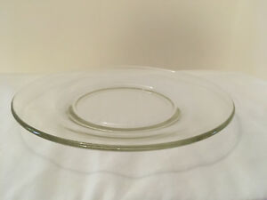 Glass-Sandwich-Plate-8-inch-plate-clear-glass-vintage-circa-1960s