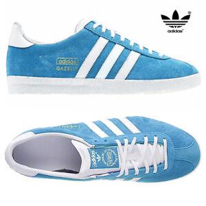 Adidas-Originals-Da-Uomo-Gazelle-OG-Scarpe-Da-Ginnastica-in-Pelle-e-pelle-scamosciata-stringati