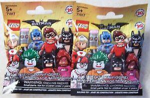 2-NEW-Sealed-Pack-039-s-Lot-Of-Batman-Movie-LEGO-Mini-Figure-71017
