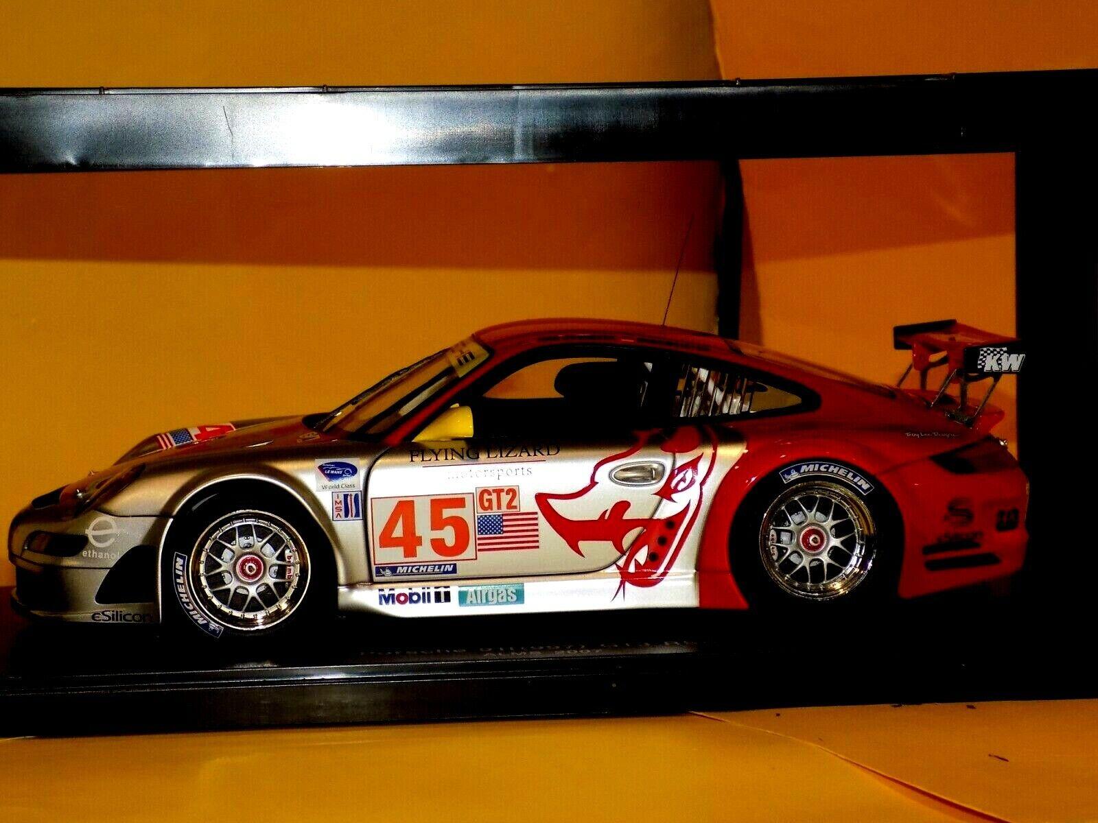 PORSCHE  911 997 GT3 RSR  45 volareING LIZARD ALMS 2007  AUTOART 80788 1 18