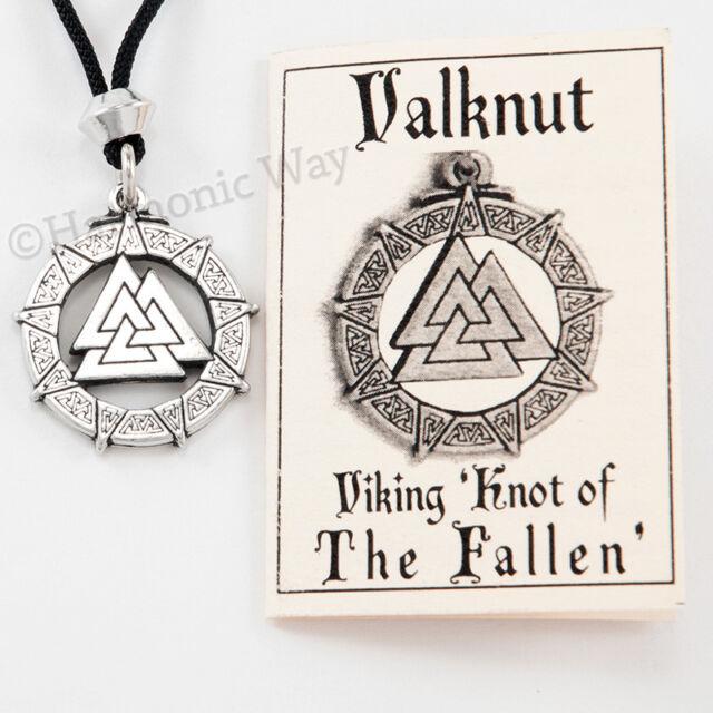 Valknut Celtic Warrior S Knot Viking Odin Nordic God Pendant Necklace For Sale Online Ebay