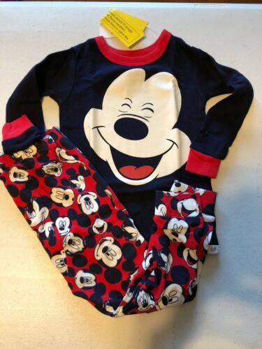 New Baby Gap Boy/'s 6 12 18 24 Months 2 3 4 5 T Mickey Mouse Pajamas PJ Set
