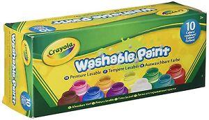 Crayola Washable Kids Paint set of 10 Bottles 2 fl oz/59mL