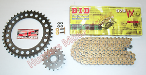 BMW G650 X Moto 2008 DID Gold X-Ring Chain and Sprocket Kit